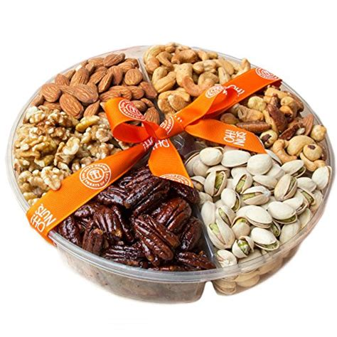 holiday gourmet food nuts gift basket 7 different nuts five star gift baskets oh nuts freshly roasted nuts gift basket nut gift import it all