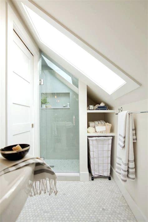 bathroom with slanted ceiling avie