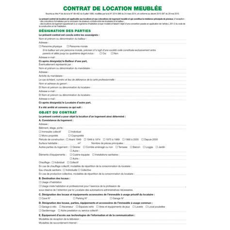 Contrat de location   Locaux meublés EXACOMPTA 51E   ARC Registres