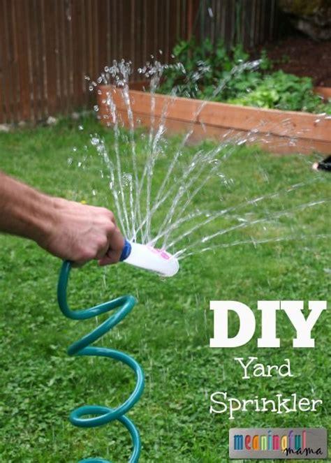 backyard sprinkler diy yard sprinkler gardens sprinklers and summer