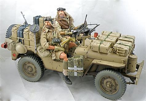 desert military jeep jeep willys 1 35 scale model depicted are the desert rats