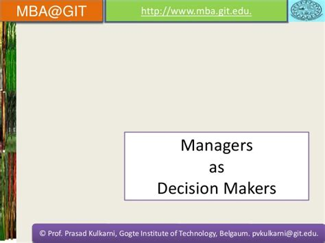 Mba 1 Decision Notification Foster by Principles Of Management