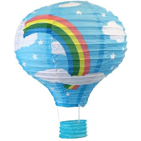 Air Balloon Lantern Lentera cloud blue the rainbow air balloon paper lantern 12in