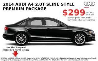 Audi A4 Lease Specials Audi Lease Deals Audi New Car Lease Specials Metro
