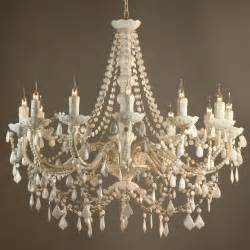 the chandelier fifi vintage style white 12 arm acrylic chandelier