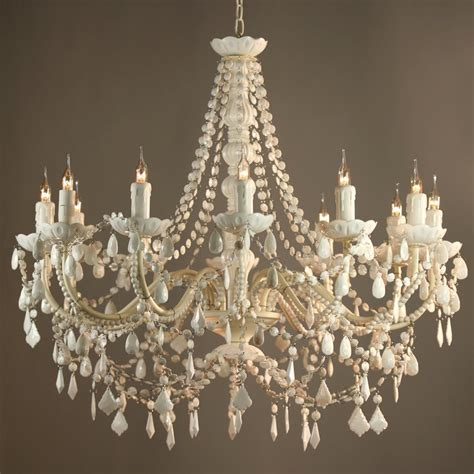 Lighting Chandeliers Fifi Vintage Style White 12 Arm Acrylic Chandelier Ebay