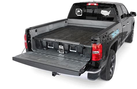 pickup bed tool box decked truck bed storage system truck bed organizer