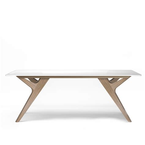 table blanc et bois table bois blanc design chene made scandinave