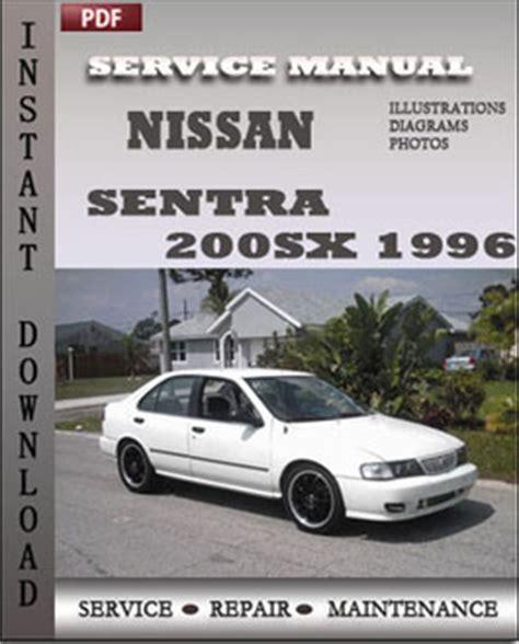 old car repair manuals 1996 nissan 200sx security system instant manuals for nissan sentra service repair manual autos post