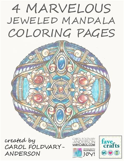mandala coloring book price 4 marvelous jeweled mandala coloring pages favecrafts