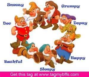 Seven dwarfs with names snowhite and 7 dwarfs pinterest
