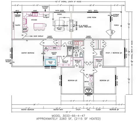 4 bedroom mobile homes 4 bedroom wide mobile home floor plans