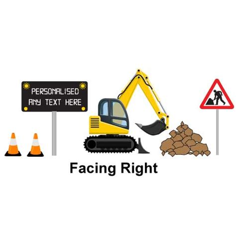 digger wall stickers jaf graphics personalised digger wall sticker