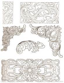 traditional wood carving patterns design