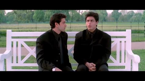 bench scene k3g shahrukh hrithik bench scene hq 720p youtube