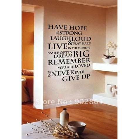 inspirational quote wall stickers inspirational quotes wall decals quotesgram