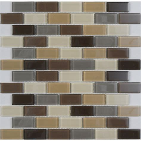 avenzo 12 in x 12 in avenzo mosaic beige glass wall tile