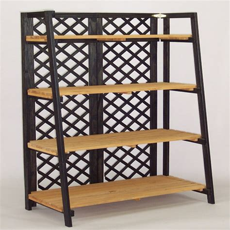 tapered folding shelf unit display discount shelving