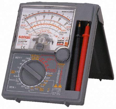 original sanwa multi tester yx360trf multi meter made in japan arnaiz electronics and