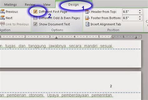 membuat nomor halaman pada pdf membuat nomor halaman berbeda pada office 2007 dan 2010 j