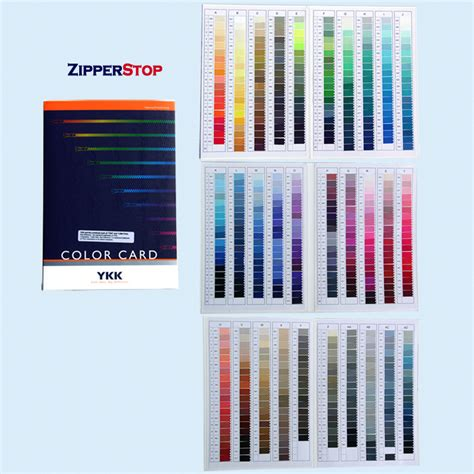 global color ykk 174 master global color card 500 colors zipperstop