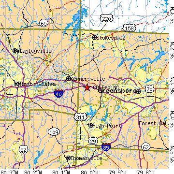 zip code map kernersville nc colfax north carolina nc population data races