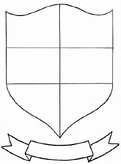 crest shield template blank family crest template cliparts co