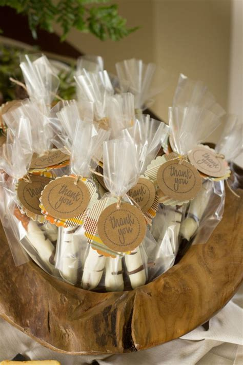 Woodland Themed Baby Shower Decorations by Chocolate Covered Pretzel Favors For A Woodland Themed