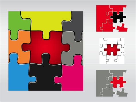 puzzle design elements vector puzzle pieces vector art graphics freevector com