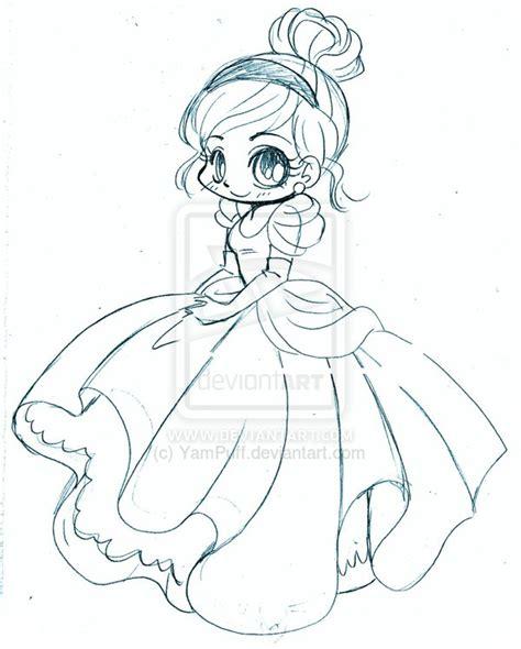 chibi cinderella coloring page cinderella chibi sketch by yampuff on deviantart