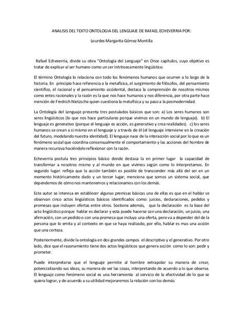 libro analisis de textos en an 225 lisis del texto ontologia del lenguaje de rafael echeverria