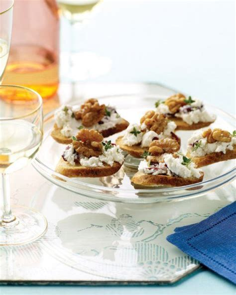 cheese canape recipes goat cheese cranberry and walnut canapes recipe