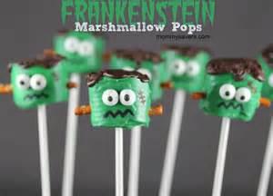 Christmas Dinner Decorations Frankenstein Marshmallow Pops Mommysavers