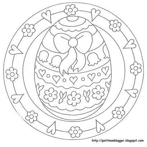 preschool easter egg mandala coloring (8) « funnycrafts