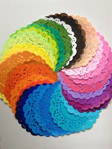 items similar to 10 colored paper doilies pattern design