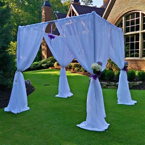Bamboo Drapes Chuppah Wedding Canopy Rental A Grand Event