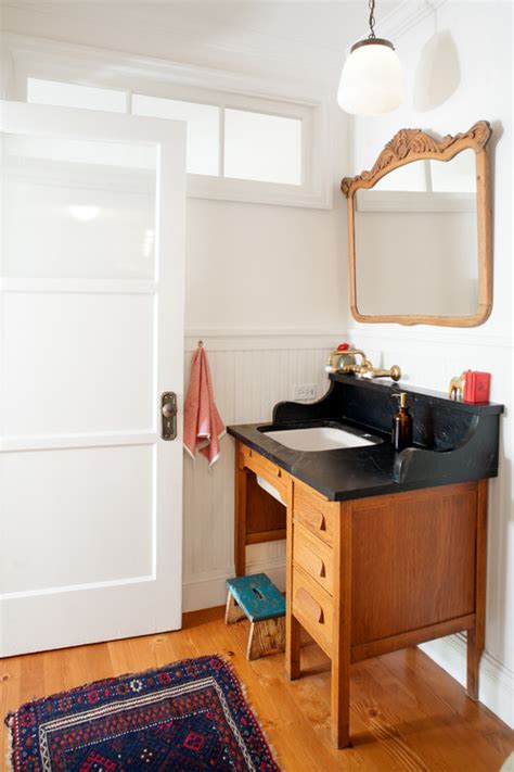 turn desk into vanity 10 pieces of furniture to turn into a bathroom vanity