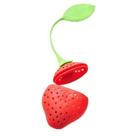 Strawberry Silicone Tea Bag Filter Saringan Teh strawberry silicone tea bag filter saringan teh jakartanotebook