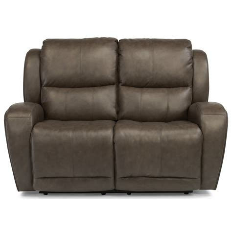 power reclining sofa with usb flexsteel chaz 1839 60p power reclining loveseat with usb