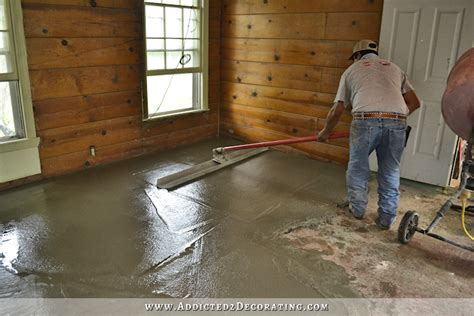 i a level breakfast room floor leveling a concrete
