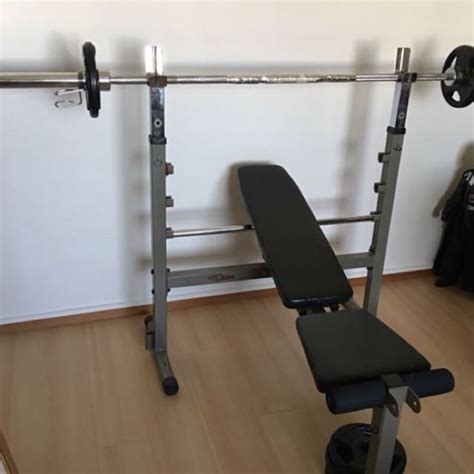 bench press all in 1 olympic size workout bench 7ft