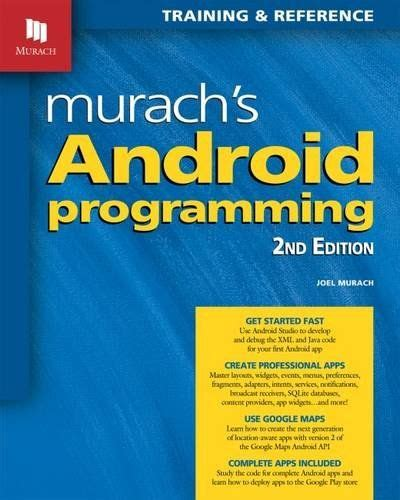 apprentice third edition beginning programming with 4 books murach s android programming 2nd edition by joel murach