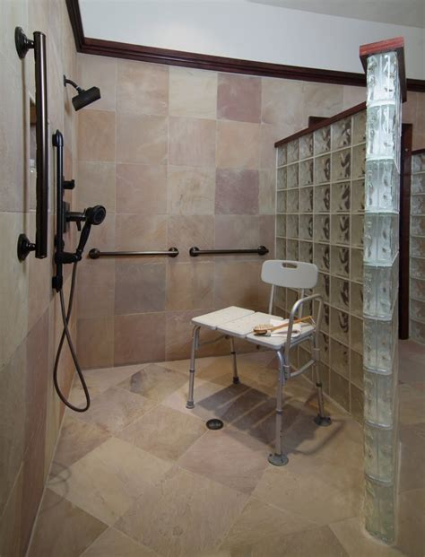 disabled bathroom design accessible bathroom with masculine luxury