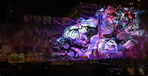 tdc merges street art  projection mapping tech