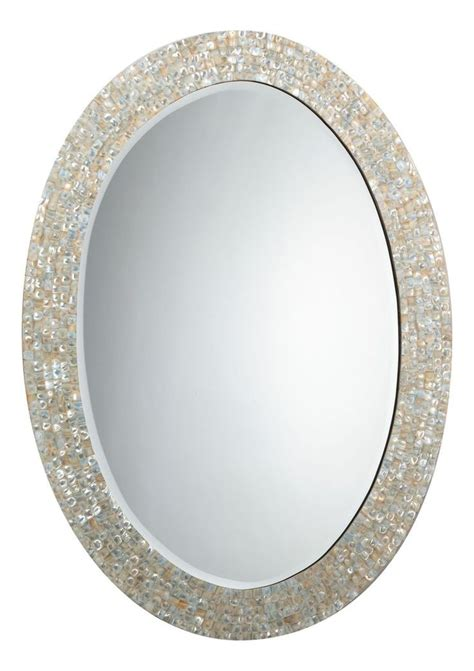 mother of pearl bathroom mirror 17 best ideas about oval bathroom mirror on pinterest