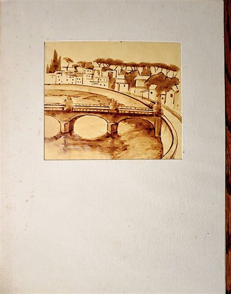 Handmade Drawing Paper - handmade drawing sepia ink on vellum and paper 1960 ca