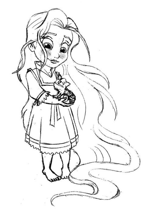 Tangled Coloring Pages Getcoloringpages Com Baby Princess Rapunzel Coloring Pages