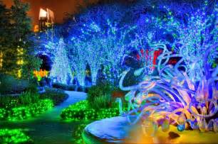 atlanta botanical gardens transformed into winter