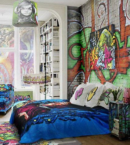 cool ideas for bedroom walls brick walls decorating with graffiti in cool bedroom wall
