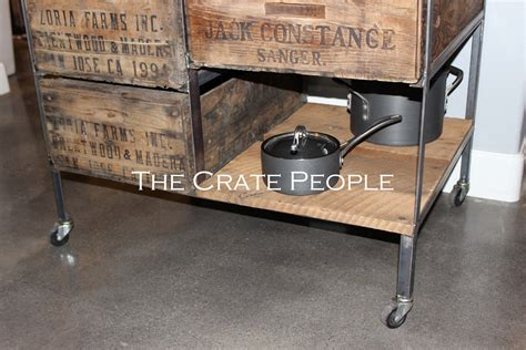 kitchen island casters kitchen island crate combo on casters the crate